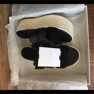 Shoes - Scalloped Flatworm Sandal Chloe